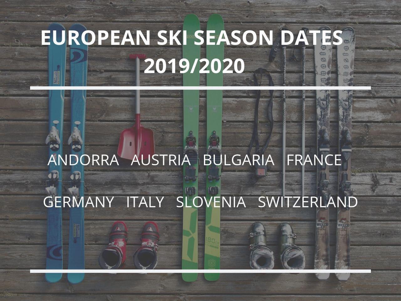 european-ski-season-dates-2019-2020