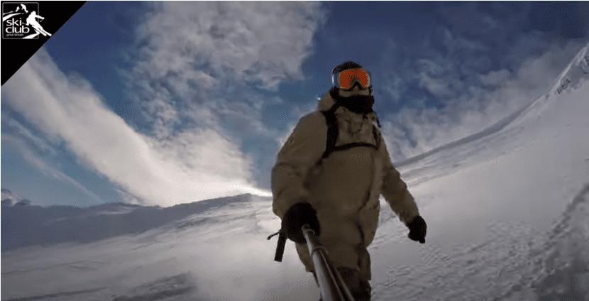 Screenshot from Ski Club video of Scotland Ski Series