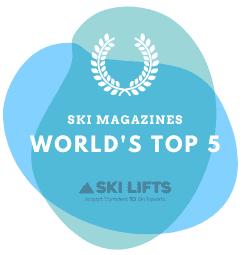 Top 5 Ski Magazines Badge from Ski Lifts